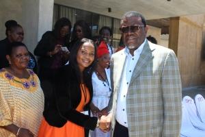 Her Worship, Madam Mayor (left) and H.E. Mr President, Hage Geingob
