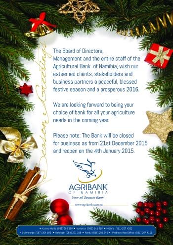 Agribank - season greetings 2016