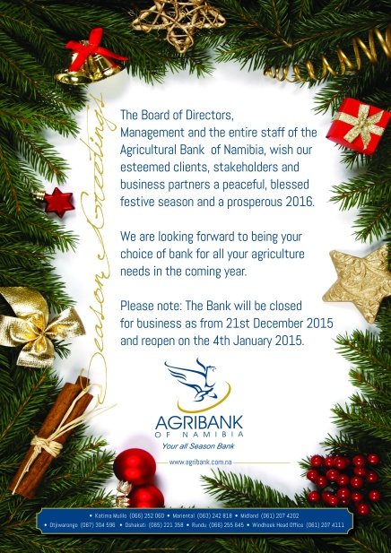 Agribank - season greetings 2016