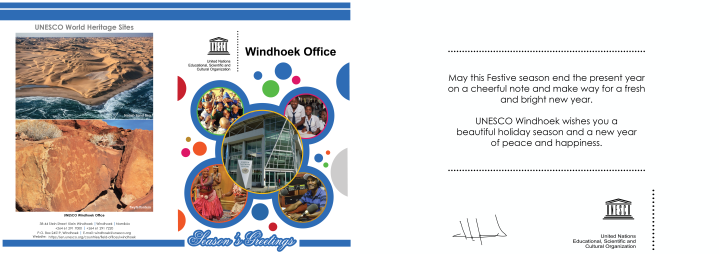 Seasons Greetings from UNESCO Windhoek office