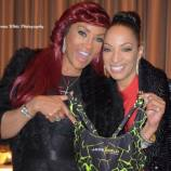 Jade and actress Vivica A Fox, showing off her branded clothe line